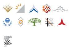 05个设计要素徽标向量 免版税库存图片