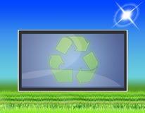 05平面的lcd屏幕电视 免版税库存图片