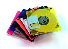 05张盘磁盘 库存图片