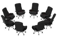 05把扶手椅子查出办公室 向量例证