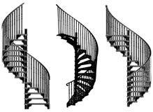 05螺旋形楼梯向量 库存照片