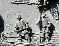 05雕刻的石头 免版税库存照片