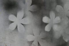 05黑色花浪花白色 免版税库存图片