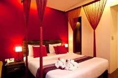 05 σειρές ξενοδοχείων κρεβατοκάμαρων Στοκ Εικόνες