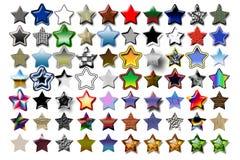 05 звезда 5 иллюстраций Стоковая Фотография