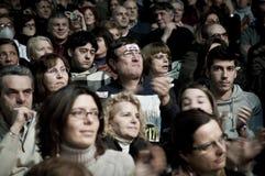 05 2011 demonstrationsfebruari milan palasharp Arkivfoton