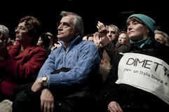 05 2011 palasharp милана в феврале демонстрации Стоковое фото RF