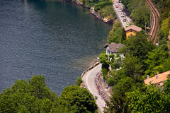 05 26 2011 como d giro Italia jezior Obrazy Royalty Free