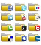 Γραμματοθήκες που τίθενται - κοινωνικές γραμματοθήκες 05 εφαρμογής δικτύου Στοκ Εικόνα