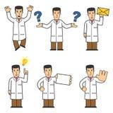 05 charakterów doktorski set royalty ilustracja