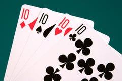 05 dziesiątek cztery karty Obrazy Royalty Free