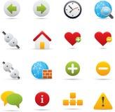 05 icone del Internet Immagine Stock