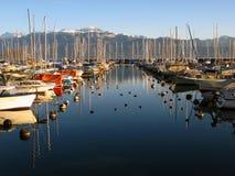 05 marina ouchy Lozannie Szwajcarii Obrazy Royalty Free
