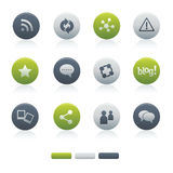 05 Mixed Circle Social Media Icons Royalty Free Stock Image