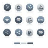 05 Mixed Gray Circle Social Media Icons Royalty Free Stock Images