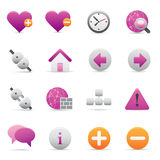 05 Purple Internet Icons. A group of coloured internet icons set royalty free illustration