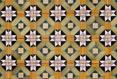 057 glasade portugisiska tegelplattor Royaltyfri Fotografi