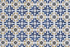 059 glasade portugisiska tegelplattor Royaltyfri Fotografi