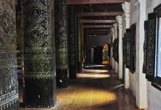 06个角度传统老挝人的寺庙 库存照片