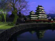 06座城堡日本马塔莫罗斯微明 图库摄影
