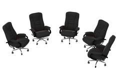 06把扶手椅子查出办公室 库存例证