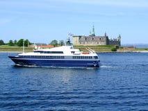 06条小船轮渡helsingborg乘客 免版税库存照片