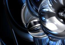 06蓝色metall银 免版税库存照片