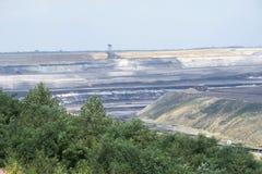 06褐色转换开放的煤矿开采 免版税库存照片