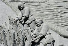 06雕刻的石头 免版税库存图片