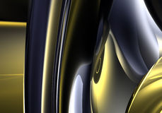 06 абстрактных мечт золотистых Стоковое Изображение