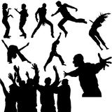 06 силуэтов танцульки Стоковые Изображения