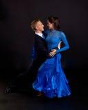 06 танцоров сини бального зала Стоковое Изображение RF