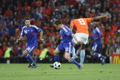 06 08 13 2008 France Holland euro uefa v Fotografia Stock
