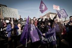 06 2011 демонстраций держат февраль, котор arcore Стоковые Изображения RF