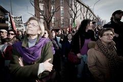 06 arcore 2011 demonstracj Luty trzymający Obraz Stock