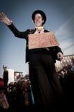 06 arcore 2011 demonstracj Luty trzymający Zdjęcia Royalty Free