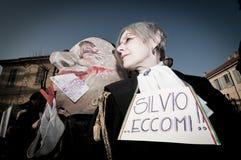 06 arcore 2011 demonstracj Luty trzymający Obraz Royalty Free