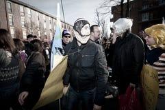 06 arcore 2011 demonstracj Luty trzymający Zdjęcia Stock