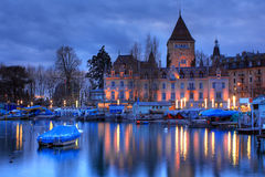 06 chateau D lausanne ouchy switzerland Arkivfoton