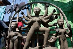 06 durga idol obrazy stock