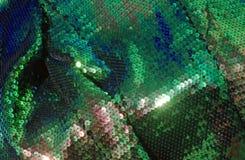 06 fabric fish green scale Στοκ φωτογραφίες με δικαίωμα ελεύθερης χρήσης