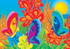 06 gladlynt djur Stock Illustrationer