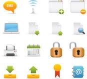 06 icone del Internet Immagini Stock