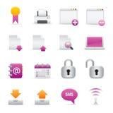 06 icone viola del Internet Fotografia Stock