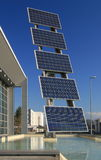06 photovoltaic paneler Arkivfoto