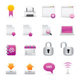 06 Purple Internet Icons Stock Photography