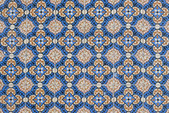 060 glasade portugisiska tegelplattor Royaltyfria Bilder