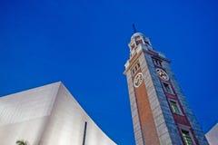 060816 191447 clock tsui för tsim för torn för den hkdigitHong Kong shaen Arkivbilder
