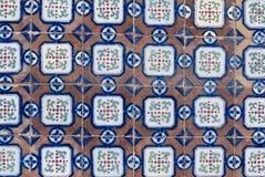 061 glasade portugisiska tegelplattor Royaltyfria Foton