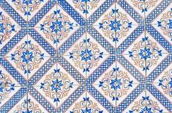064 glasade portugisiska tegelplattor Fotografering för Bildbyråer